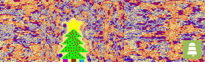 psychedelic christmas tree Singing Bell