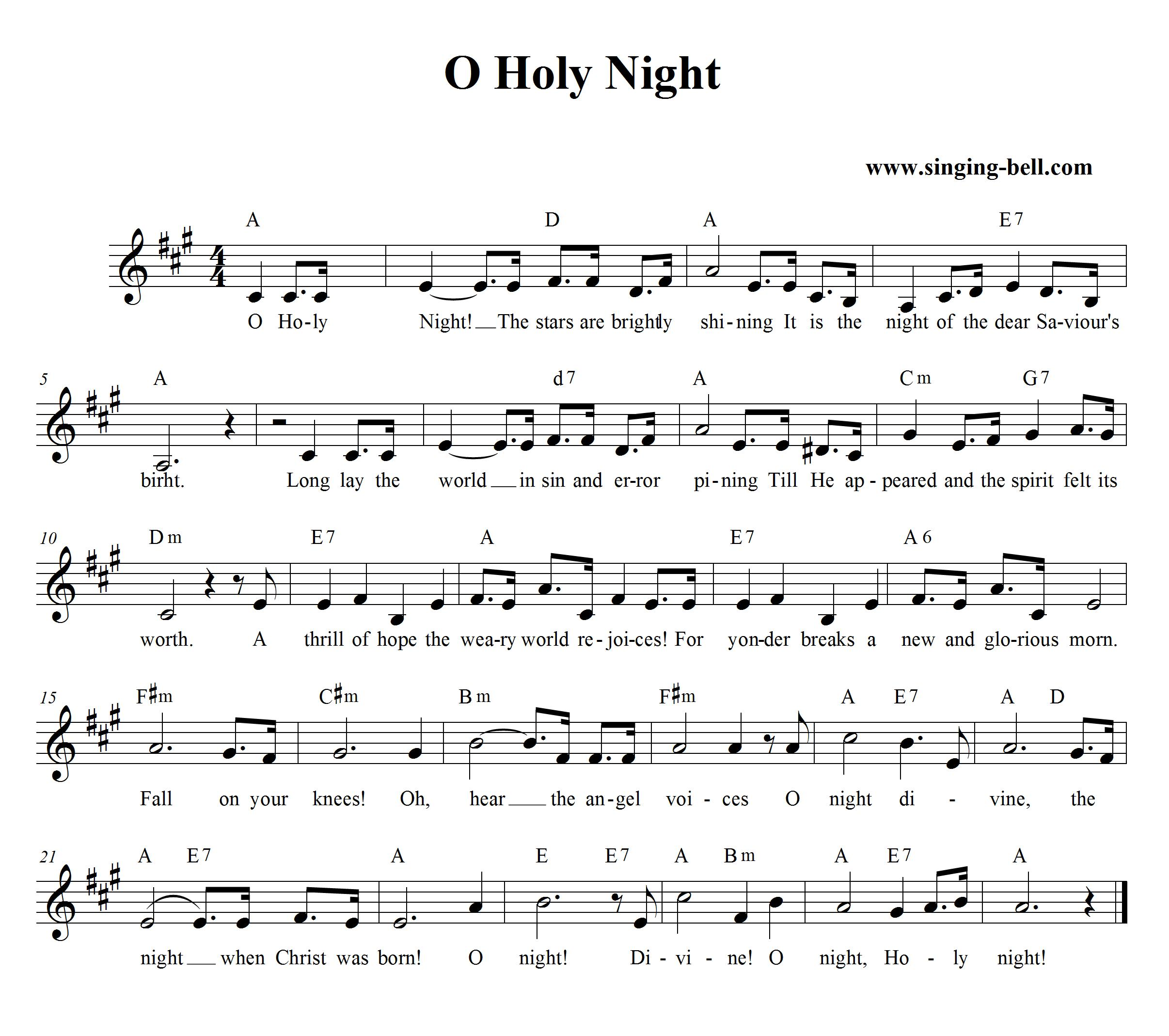 The Song Oh Christmas Tree: O Holy Night (Cantique De Noël)