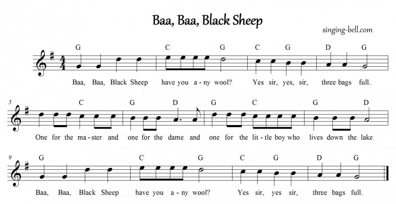 Baa Baa Black Sheep_G_singing-bell