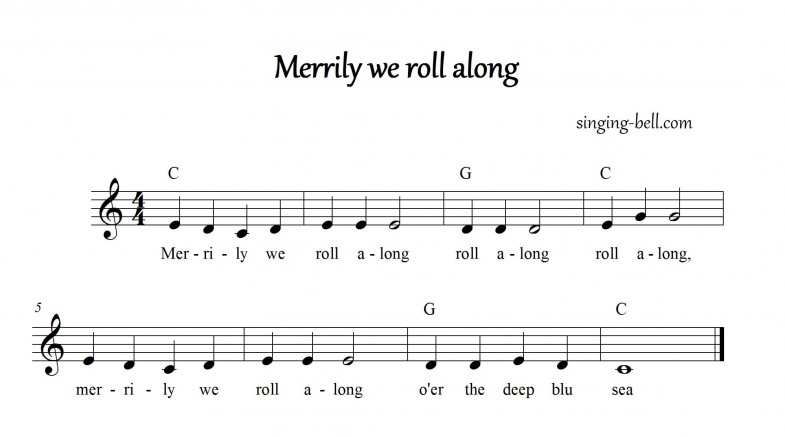 Merrily We Roll Along_in_C_singing-bell