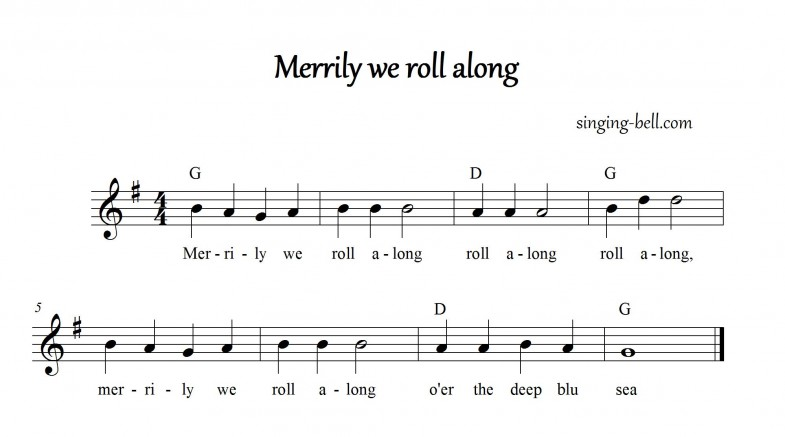 Merrily We Roll Along_in_G_singing-bell