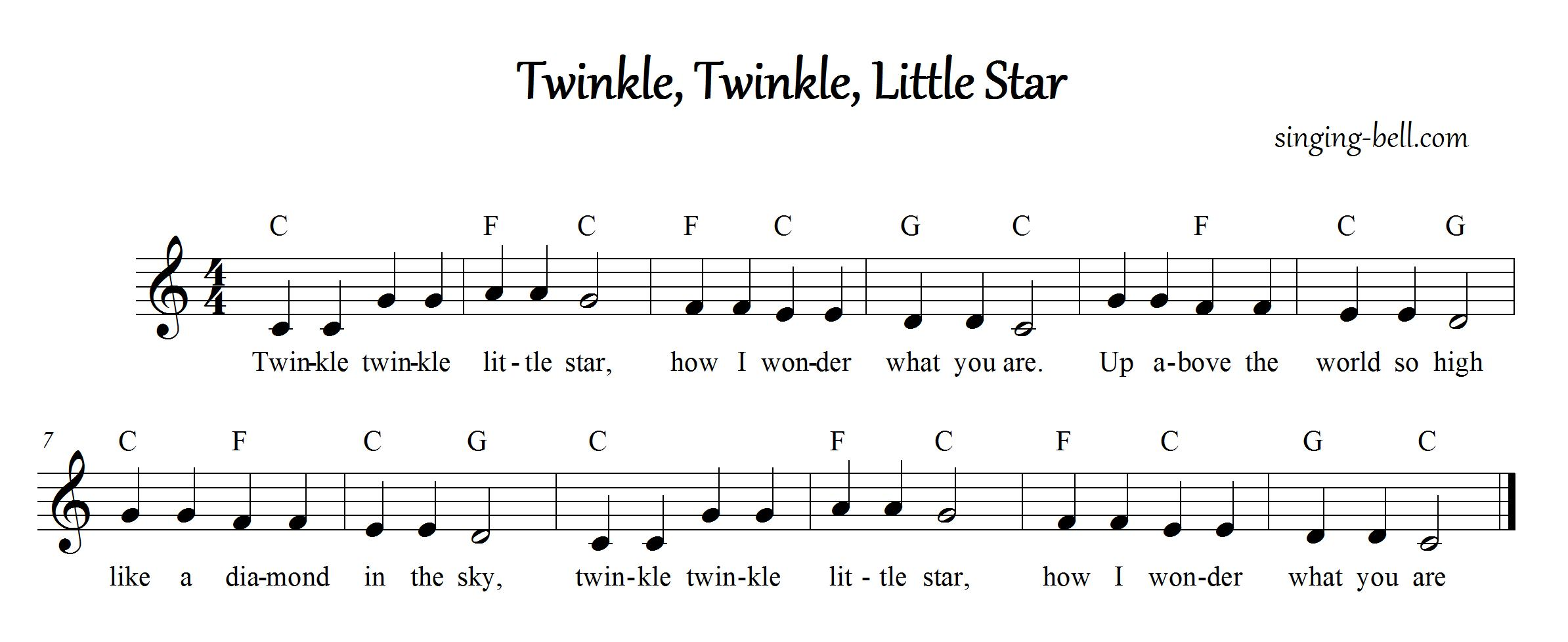 Free Nursery Rhymes : Twinkle, Twinkle, Little Star - free mp3 download