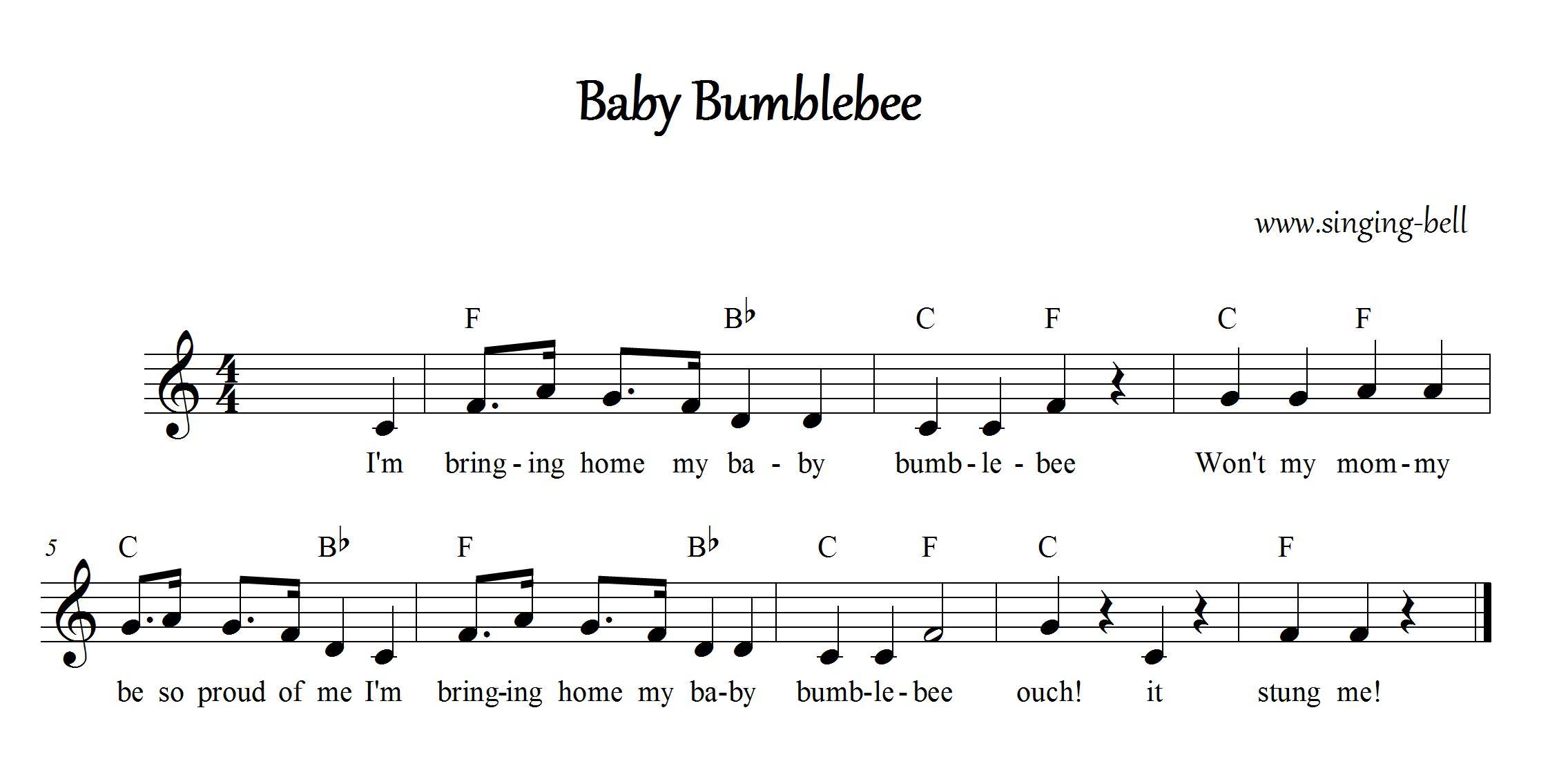 Free Nursery Rhymes Gt Baby Bumblebee Free Mp3 Audio Download