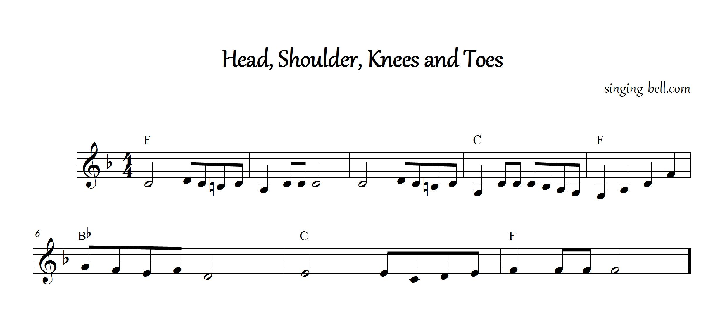 Head,Shoulder,Knees and Toes_F_singing-bell