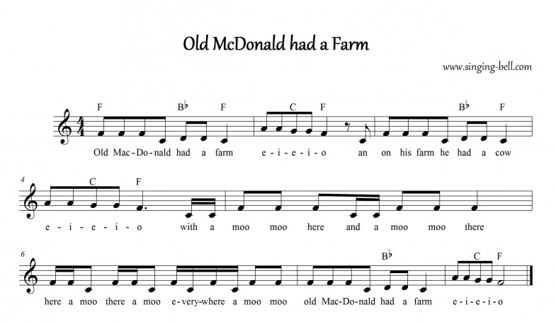 Old McDonald had a Farm_singing-bell