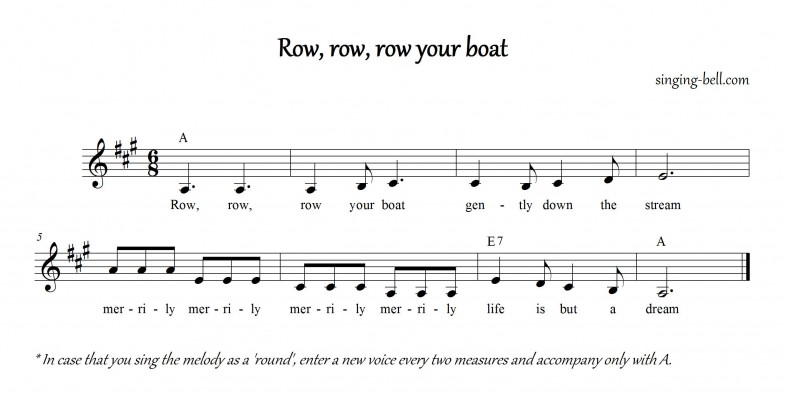 Row row row your boat_A_singing-bell
