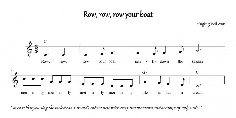 Row row row your boat_C_singing-bell