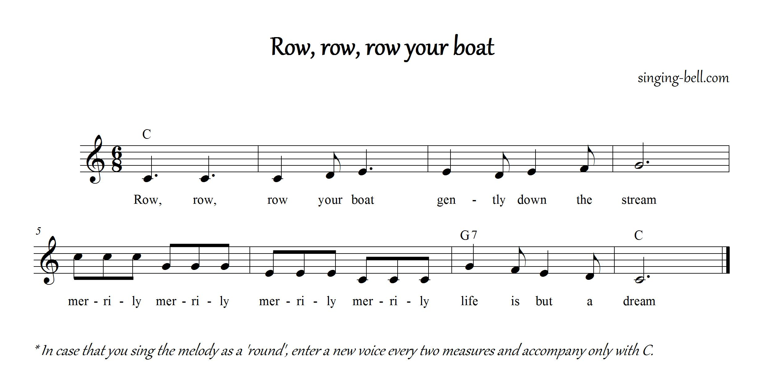 row row row your boat instrumental free download