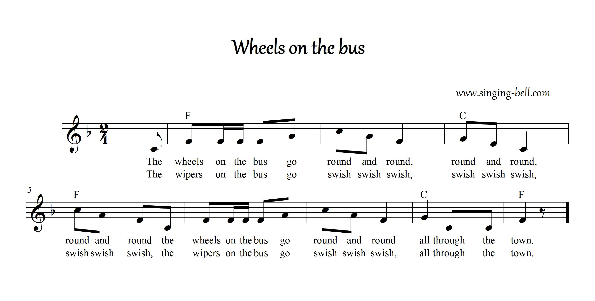 The Wheels On The Bus Free Nursery Rhymes Download