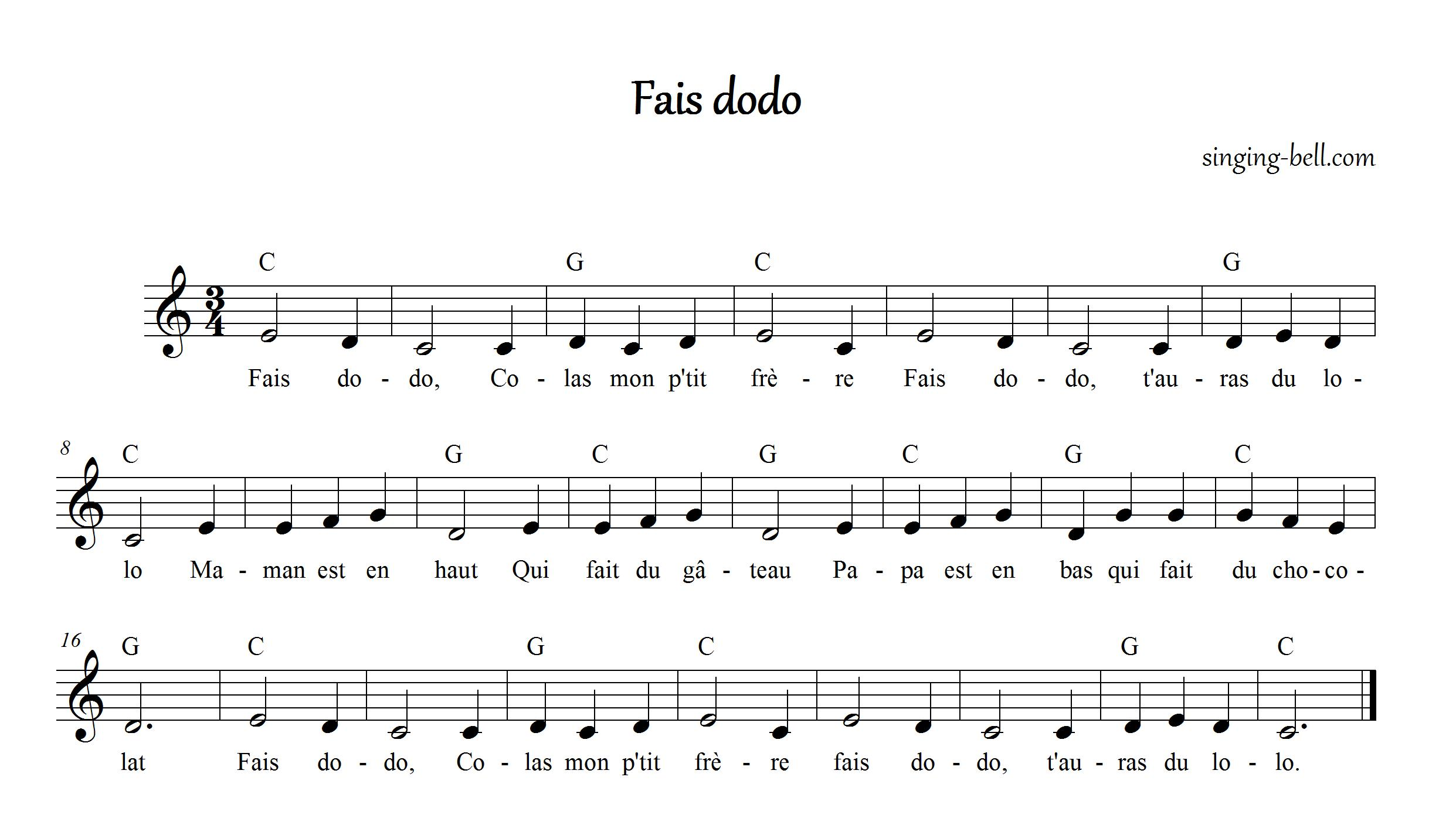 Fais Dodo Singing-Bell