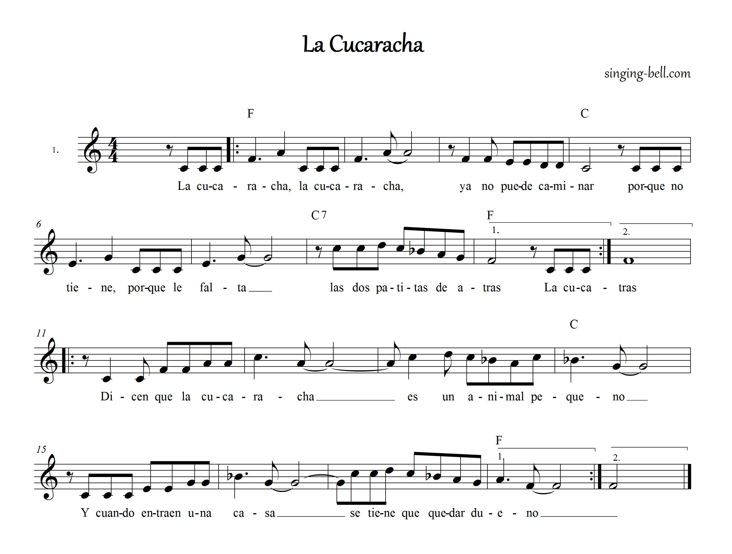 La Cucaracha_singing-bel