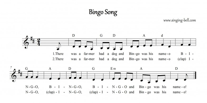 Bingo Song_Singing-Bell
