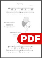 Happy Birthday Printable PDF