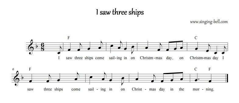 I saw three ships_F_Singing Bell