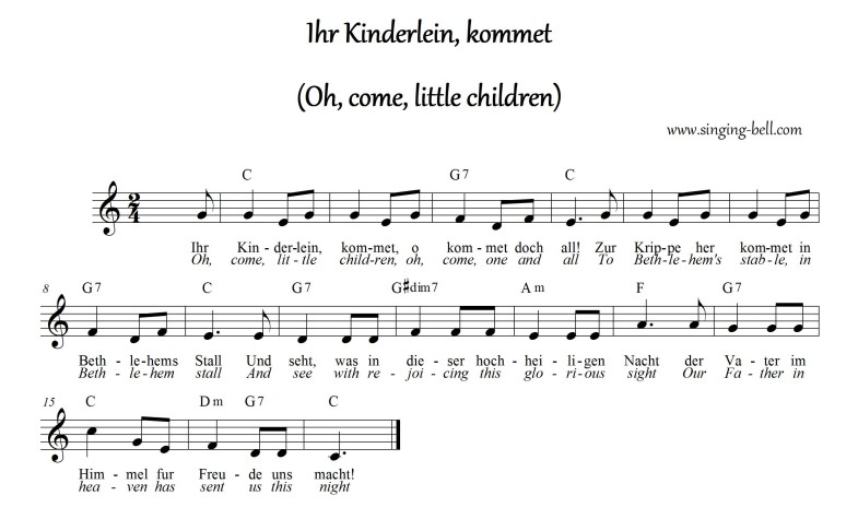 Ihr Kinderlein Kommet_singing-bell