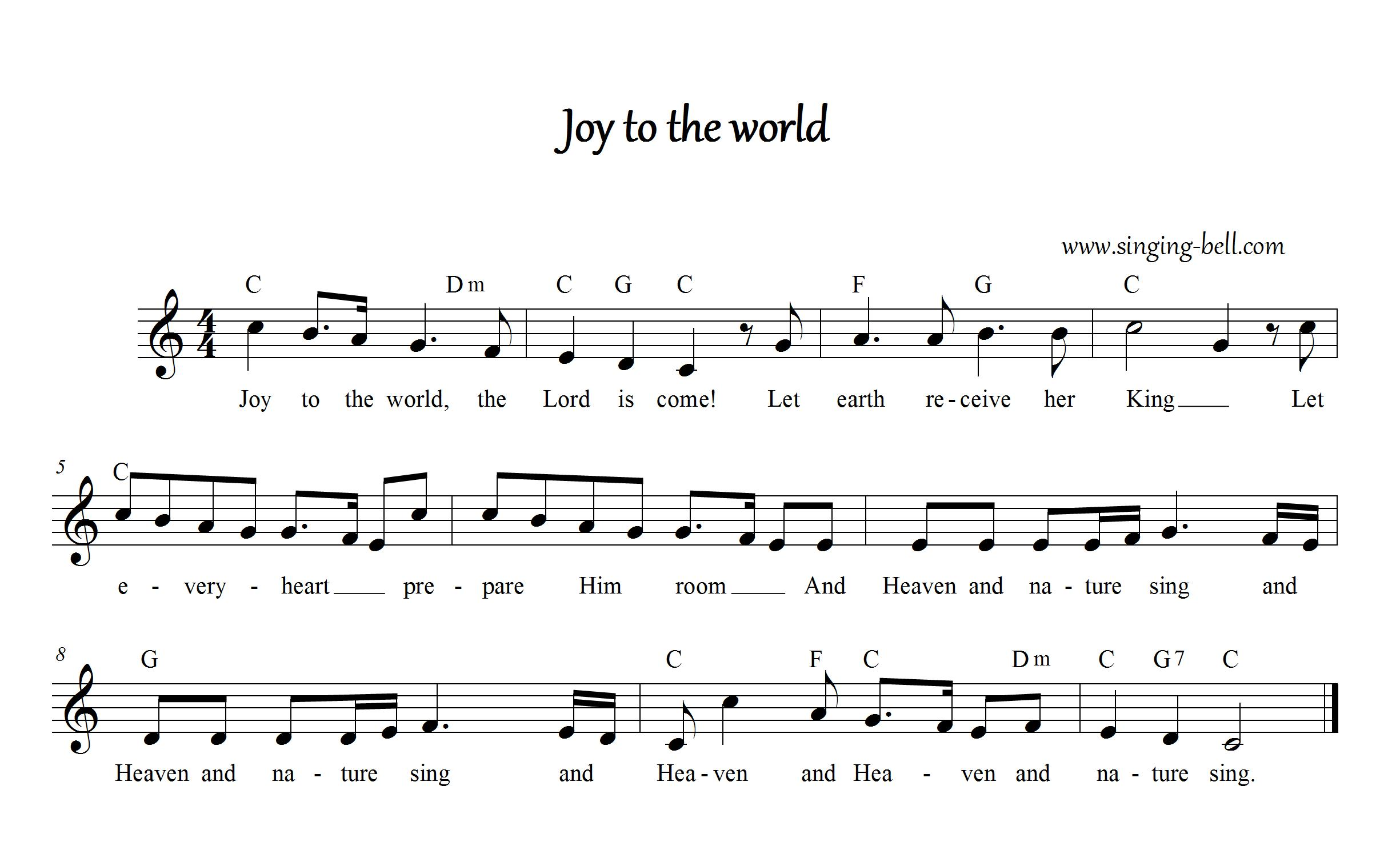 Free Christmas Carols u0026gt; Joy to the world - free mp3 audio download