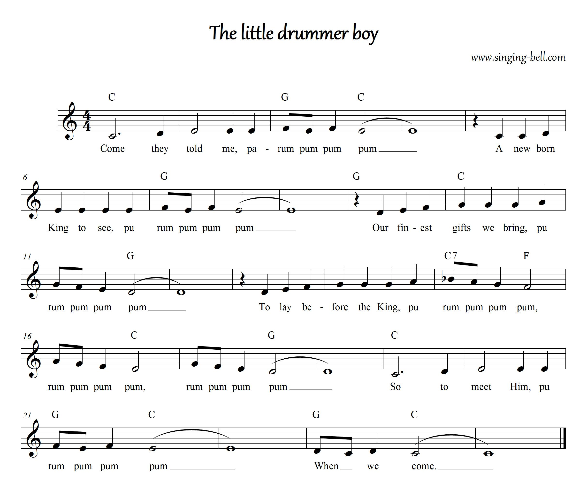 Free Christmas Carols > the Little Drummer Boy - free mp3