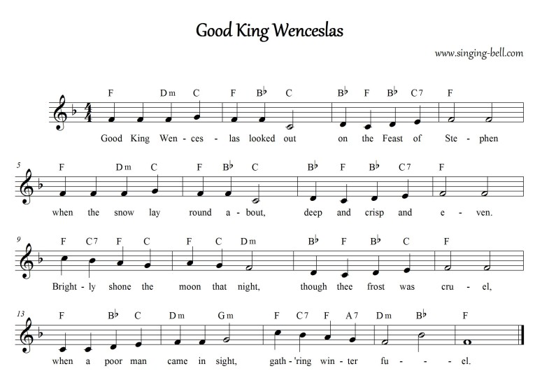 Good King Wenceslas_F_Singing Bell