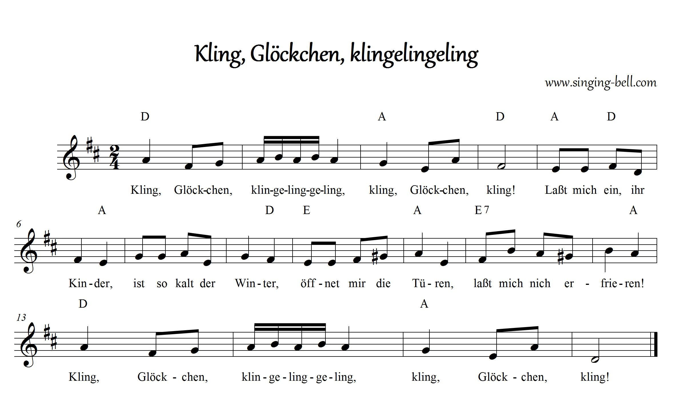graphic regarding Free Printable Lap Harp Music Cards identified as PDF Kling, Glöckchen