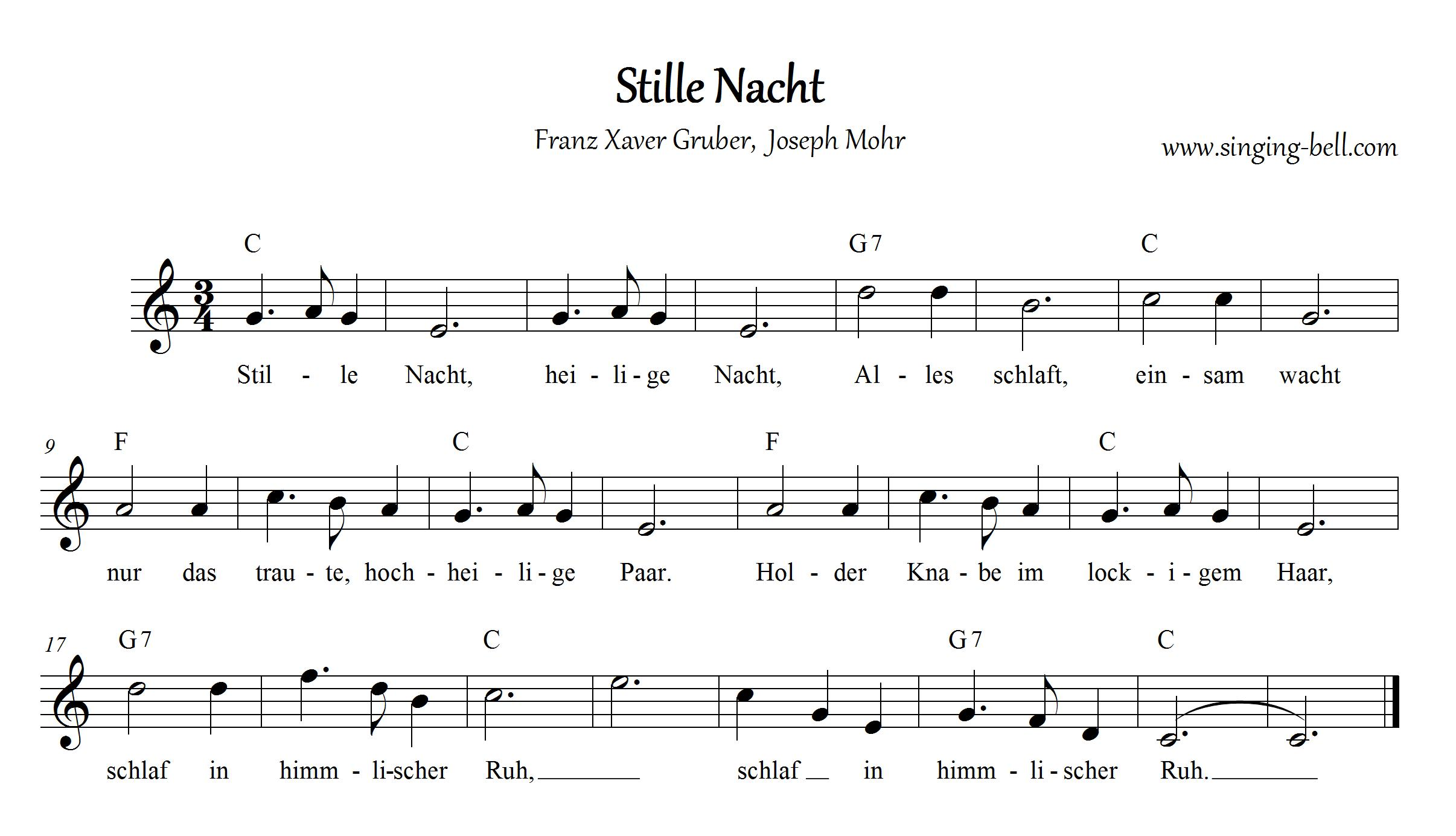 Stille Nacht C Singing Bell