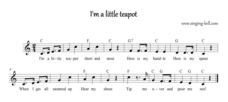 I'm a little teapot_Singing Bell