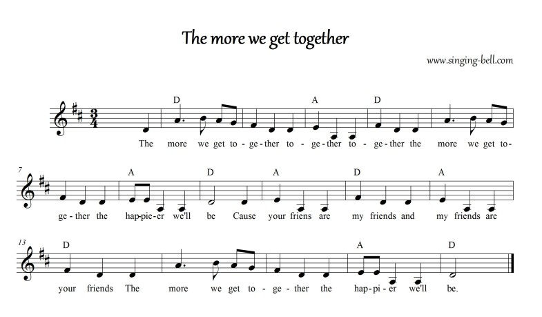 The more we get together _D_Singing Bell