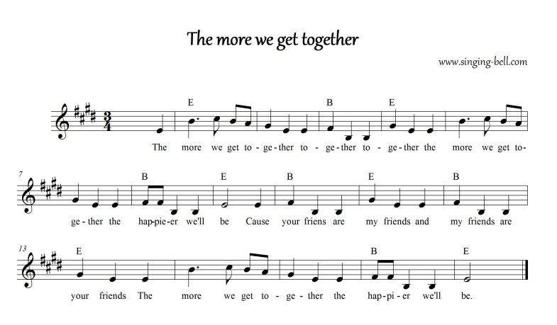 The more we get together _Singing Bell
