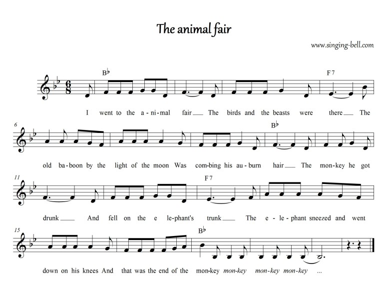 The Animal Fair_Bb_Singing Bell