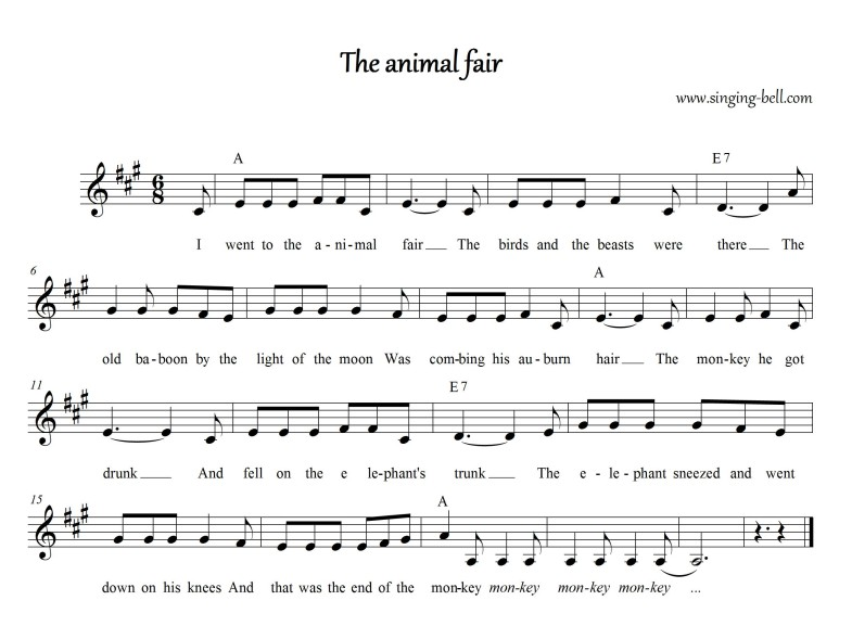 The Animal Fair_Singing Bell