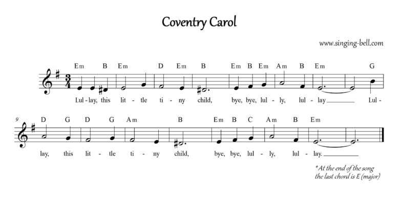 The Coventry Carol | Free Score