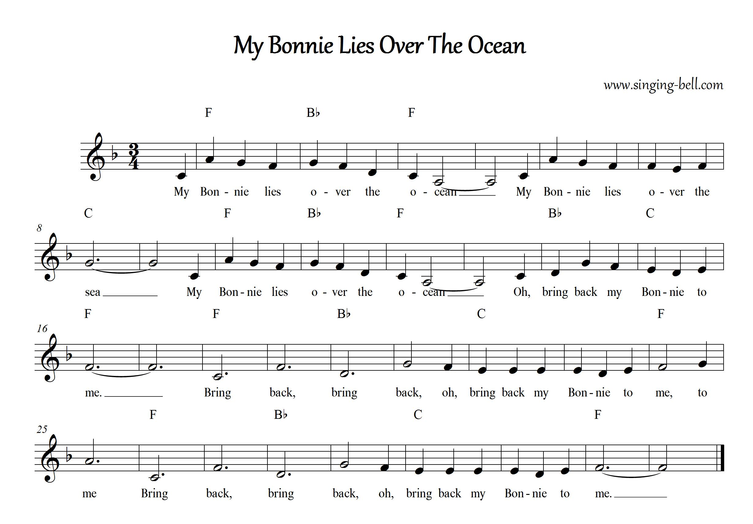 my bonnie lies over the ocean mp3 free download