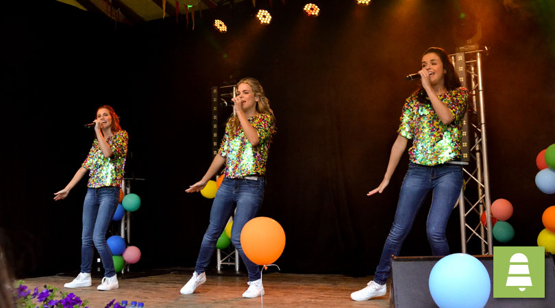 K3 is a Belgian-Dutch girl group with a Dutch repertoire, whose current line-up is composed of Hanne Verbruggen, Marthe De Pillecyn and Klaasje Meijer, mainly aimed at pre-adolescent children.