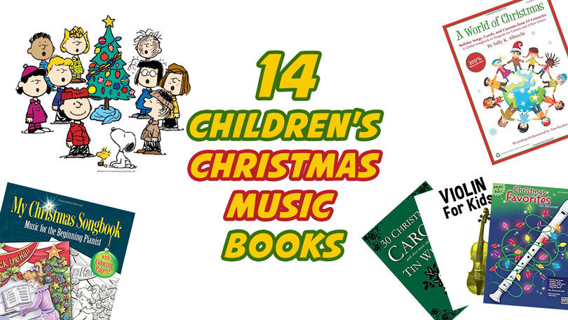 14 Children's Christmas Music Books for Kids Playing Musical Instruments