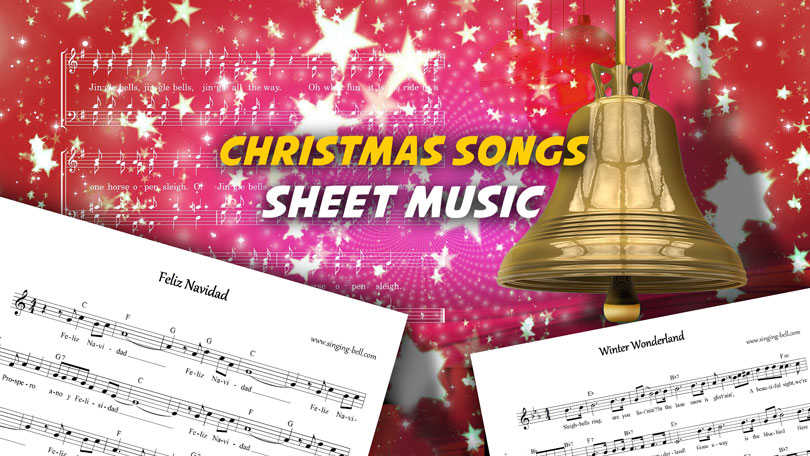 Christmas Song Sheet Music | 12 Scores for Free download