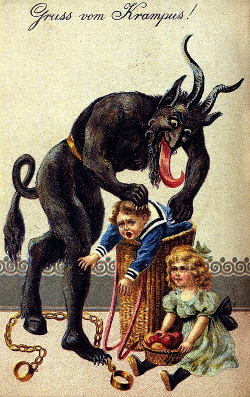 Krampus, the evil counterpart of Santa Claus