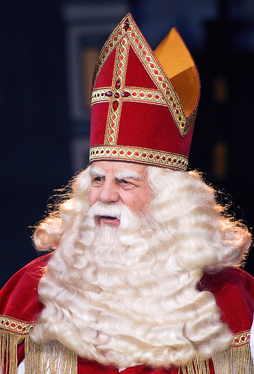 Sinterklaas, the original Dutch name for Santa Claus