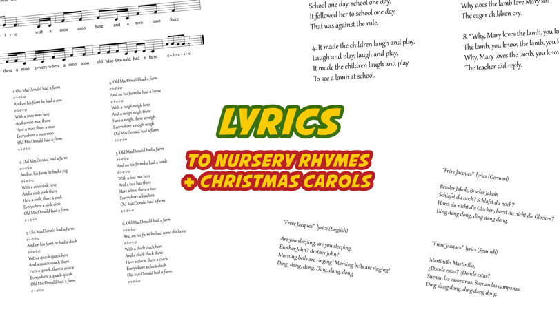 lyrics to nursery rhymes and christmas carols - Christmas Medley Lyrics