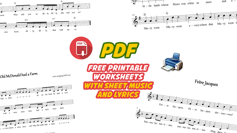 Music Worksheets With Score Free