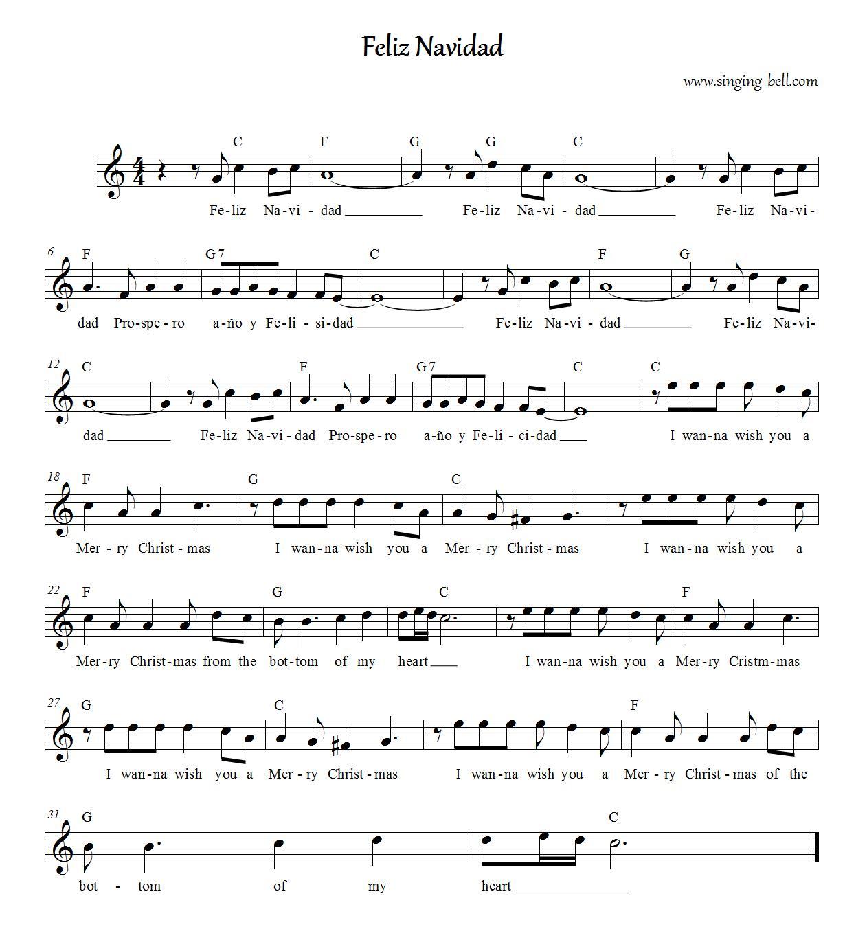 Feliz Navidad Cancion Original.Feliz Navidad Free Christmas Karaoke Songs