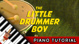 How to Play Little Drummer Boy - Piano Tutorial, Notes, Keys, Sheet Music