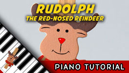 How to Play Rudolph the Red-Nosed Reindeer - Piano Tutorial, Notes, Keys, Sheet Music