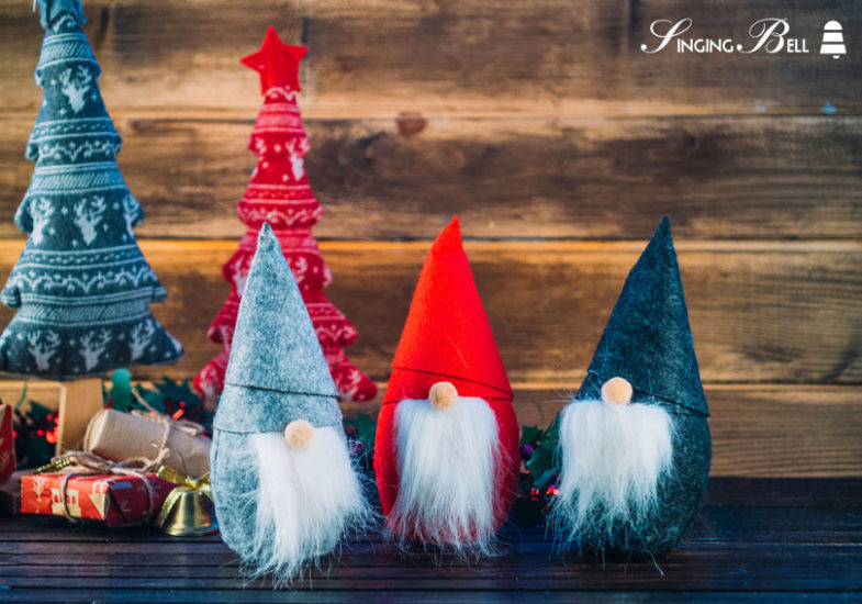 The Origin of Christmas Elves - cute wooden elves.