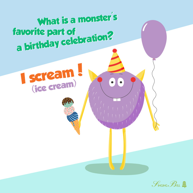 Birthday joke for kids.