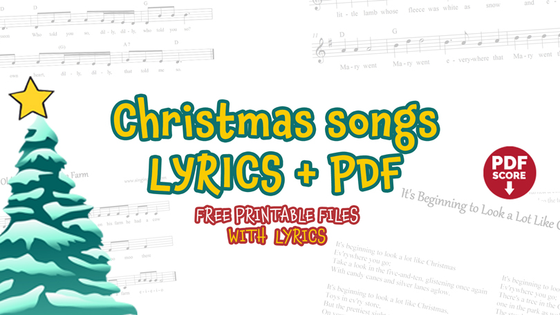 Christmas Songs Lyrics PDF Download.