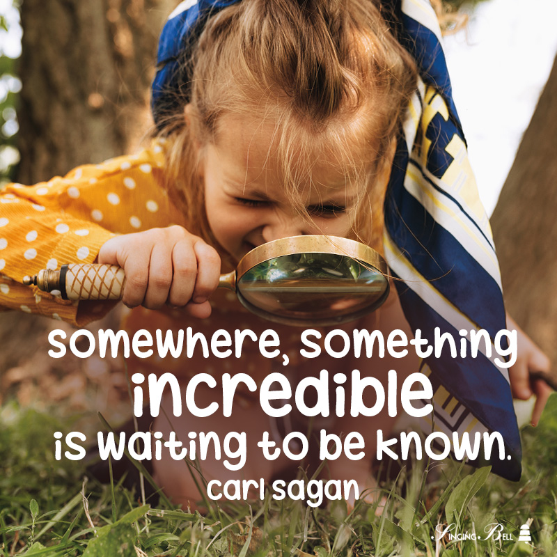 Educational Motivational Quote for Kids by Carl Sagan.