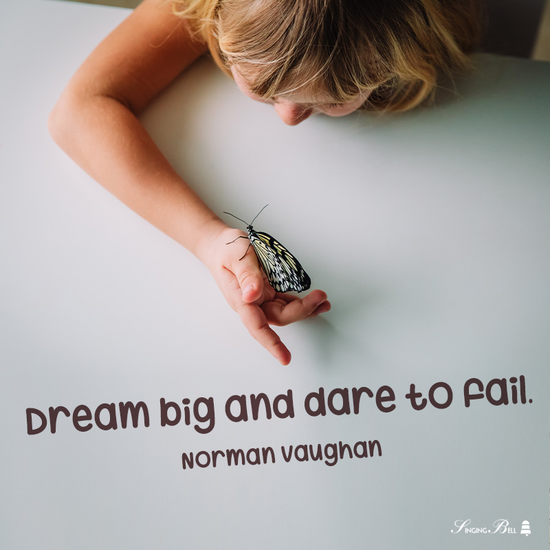Motivational quote for kids by Norman Vaughan.