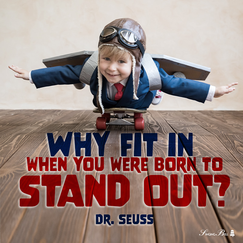 Motivational quote for kids by Dr. Seuss.