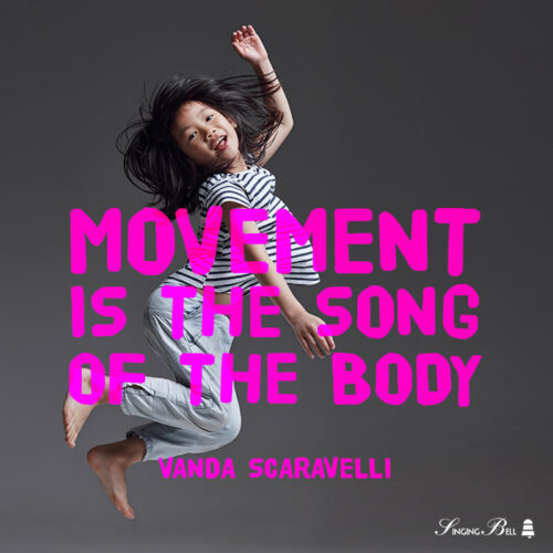 Dance quote for kids by Vanda Scaravelli.
