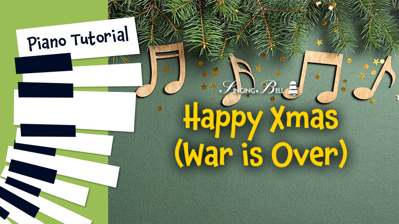 How to play Happy Xmas (War is over) on the piano and guitar.