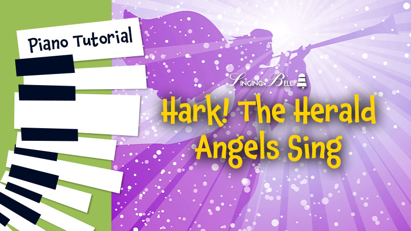 How to Play Hark! The Herald Angels Sing - Piano Tutorial, Guitar Chords, Sheet Music.